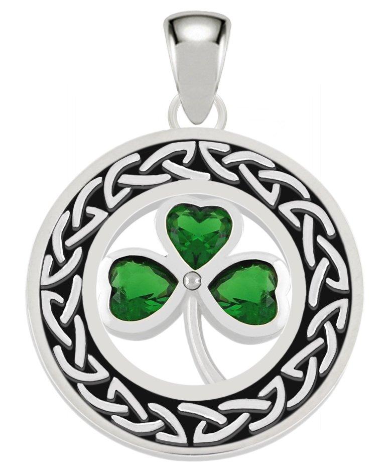 Ireland Crystal Pen With Green Shamrock Charm And Shamrock Design