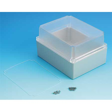 NEMA 4x, 7.32H x 5.75W x 4.33D Polycarbonate Enclosure BOX ENCLOSURES
