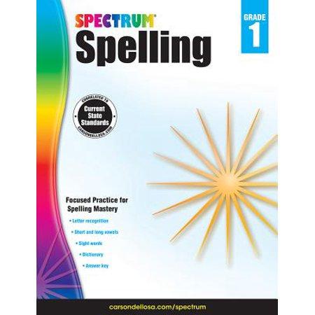 Spectrum Spelling, Grade 1](Halloween Spelling Words Grade 6)