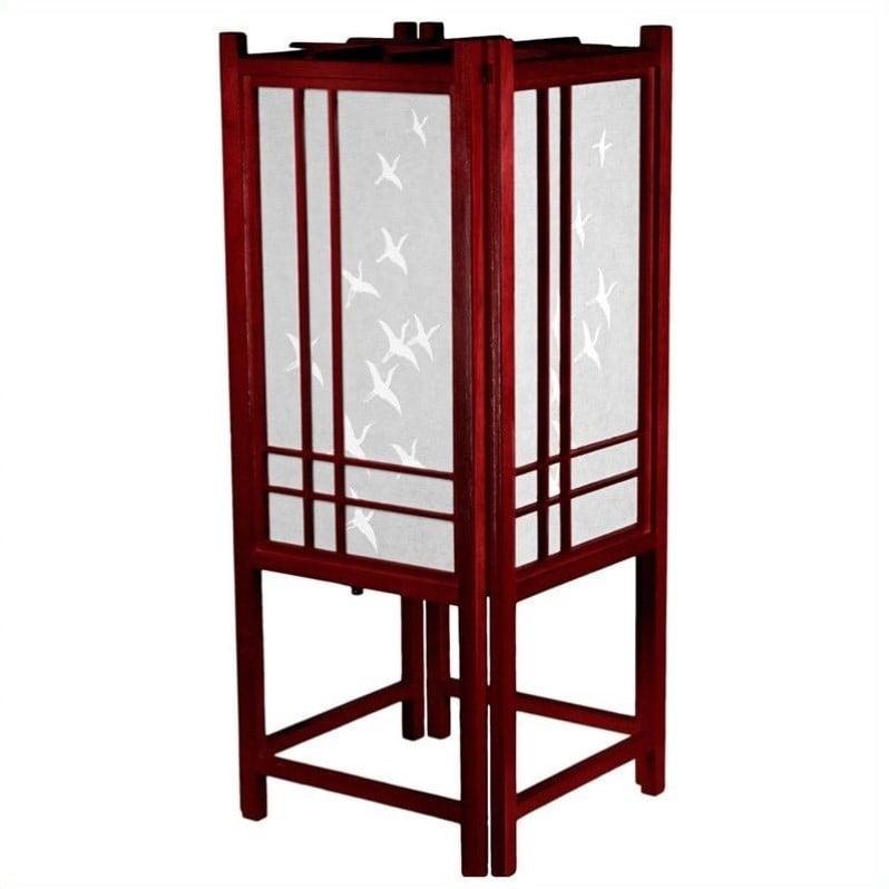 "18"" Cranes Shoji Lamp"