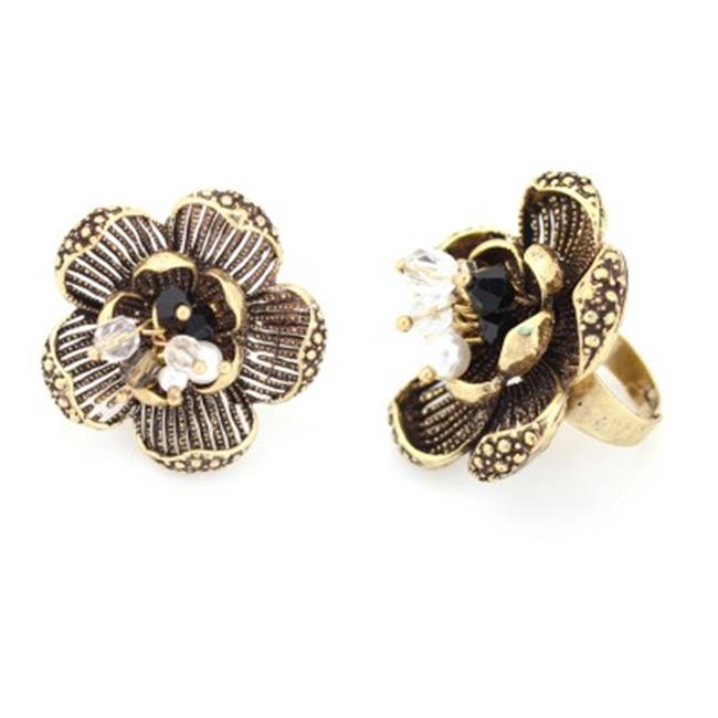 C Jewelry Gold-Tone Metal Flower Ring