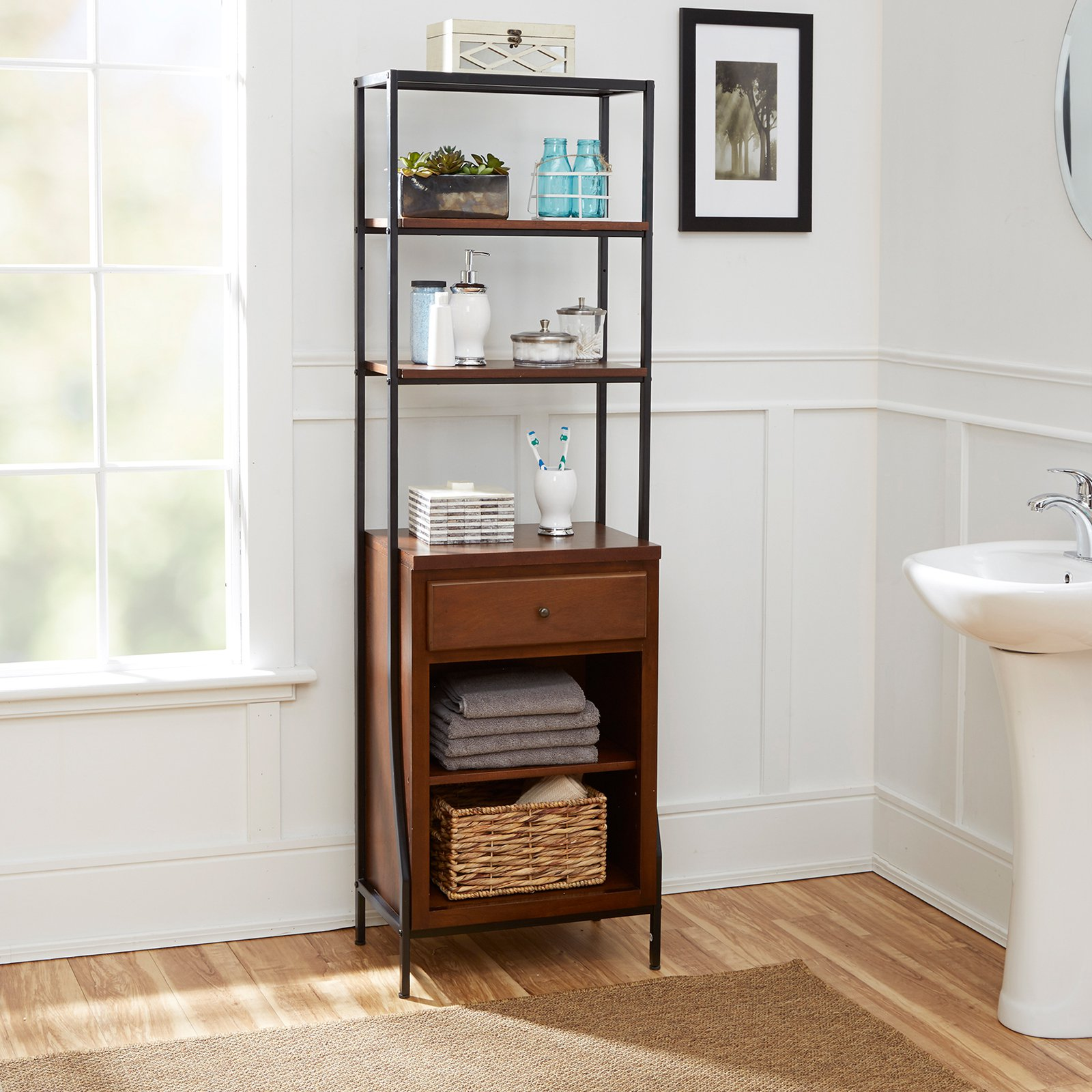 Silverwood Products Leighton Bathroom Collection Storage Linen Cabinet    Walmart.com
