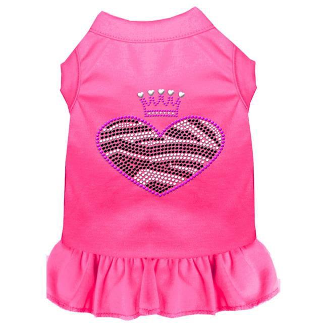 Zebra Heart Rhinestone Dress Bright Pink Xxl (18) - image 1 de 1