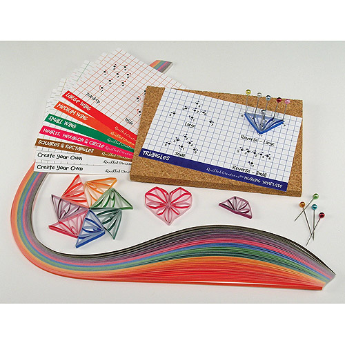Quilled Creations Husking Hoops and Loops Quilling Kit Multi-Colored