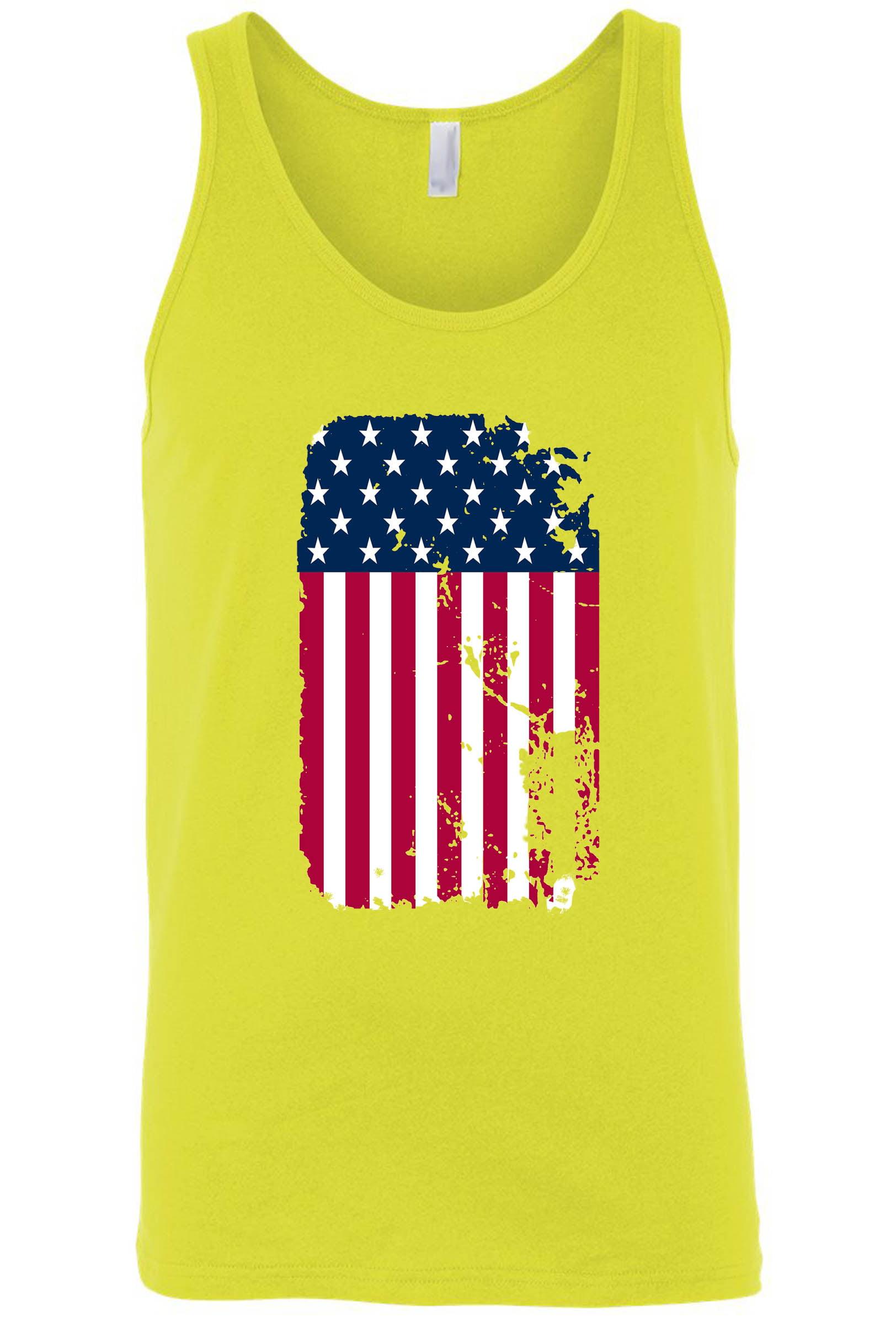 Men's/Unisex Painted USA Flag Tank Top Shirt