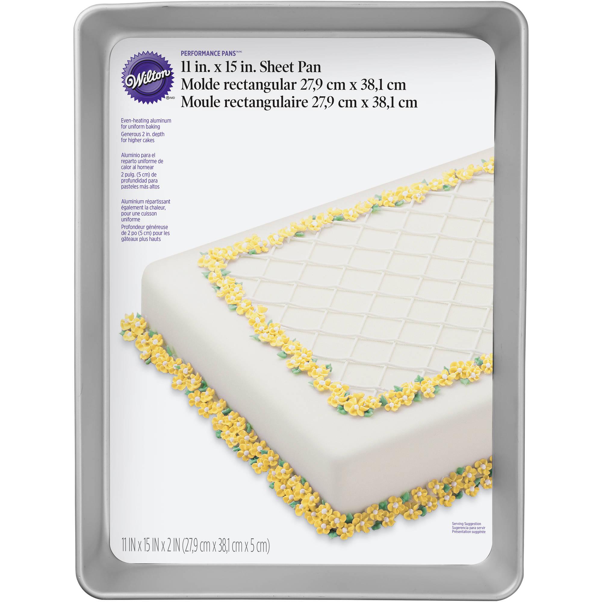 """Wilton Bakeware 11""""x15"""" Performance Cake Pan, Sheet 2105-158"""