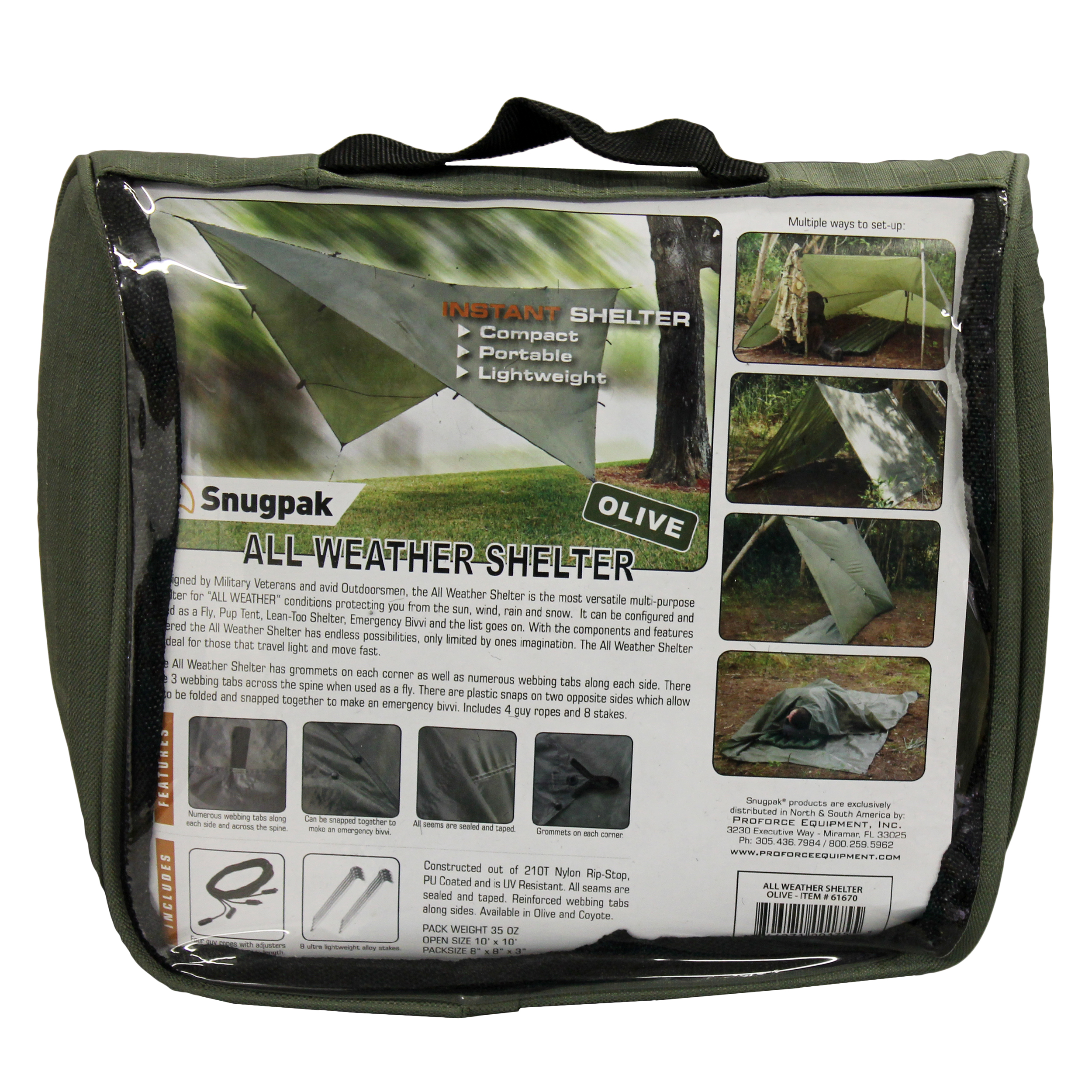 Proforce Equipment All Weather Shelter, Olive