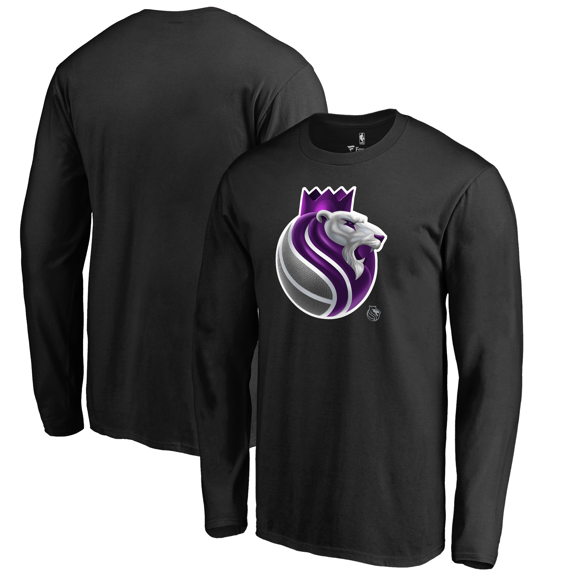Sacramento Kings Fanatics Branded Midnight Mascot Long Sleeve T-Shirt - Black
