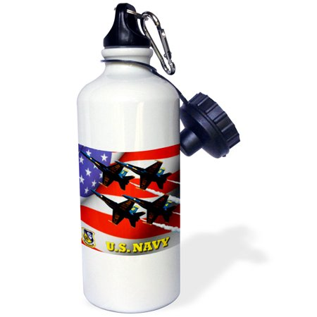 3dRose U.S. Navy Blue Angels , Sports Water Bottle, 21oz