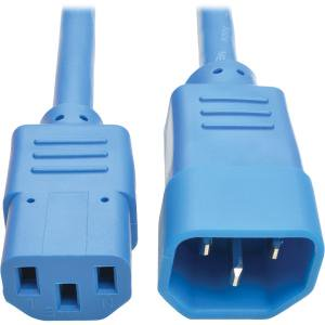 Tripp Lite P005 003 ABL Heavy Duty Power Extension Cord, 15A, 14 AWG (IEC 320 C14 to IEC 320 C13), Blue, 3 ft.