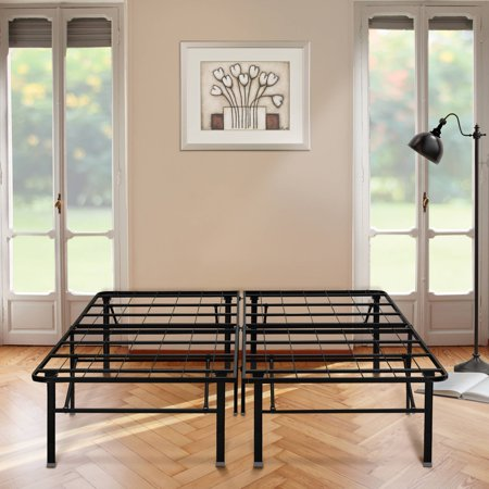 Premier 18 High Profile Platform Metal Base Foundation Bed Frame With Under Storage