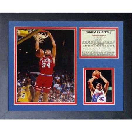 Legends Never Die   Charles Barkley 76Ers   Framed Photo Collage  11   X 14