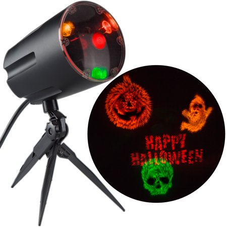 Halloween Lightshow Projection w/Sound Fireworks by Gemmy Industries - Halloween Shadow Projection