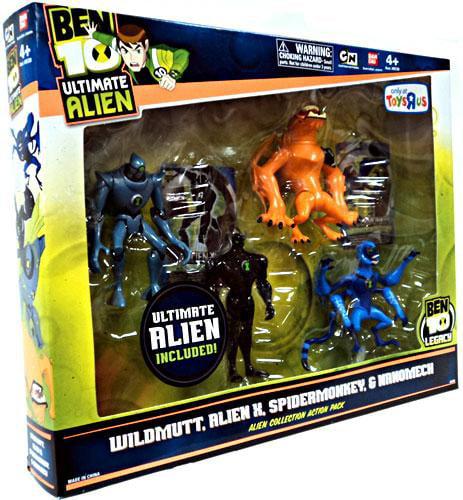 Ben 10 Ultimate Alien Alien Collection Action Pack #2 Action Figure Set by