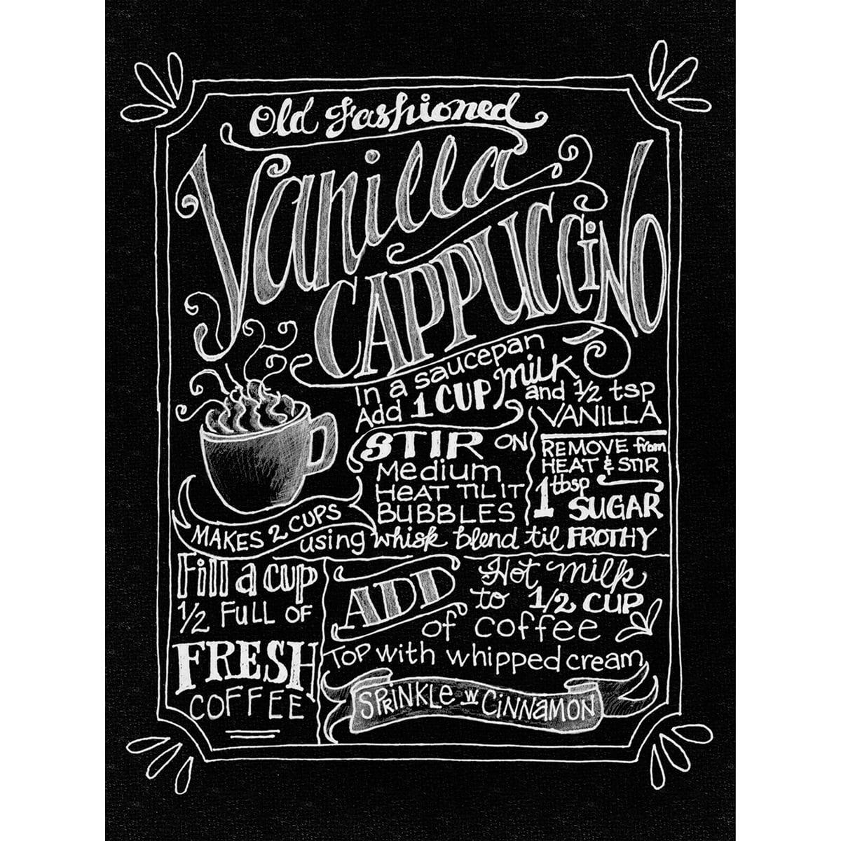 "Chalkboard Canvas Print 12""X15.75""-Vanilla Cappuccino"