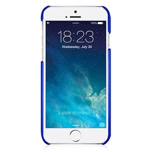 "Macally Metallic Snap-on Case for Apple iPhone 6 4.7"", Metallic Blue"