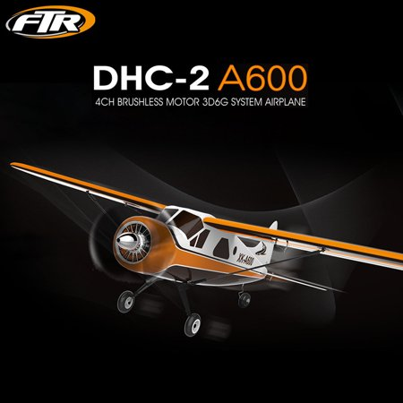 XK DHC-2 A600 4CH 2.4G Brushless Motor 3D6G RC Airplane 6 Axis (Easy Glider Brushless)