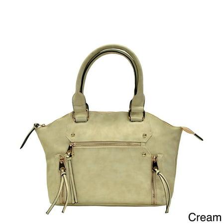 Moda  Trendy Double Handle Satchel Handbag