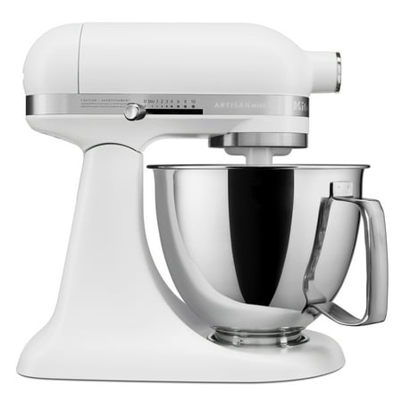 KitchenAid Artisan Mini 3.5 Quart Tilt-Head Stand Mixer, Matte White (KSM3316XFW)