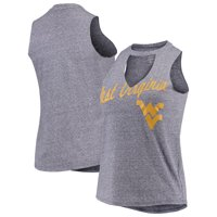 West Virginia Mountaineers Concepts Sport Women's Squad Choker Tank Top - Heathered Navy