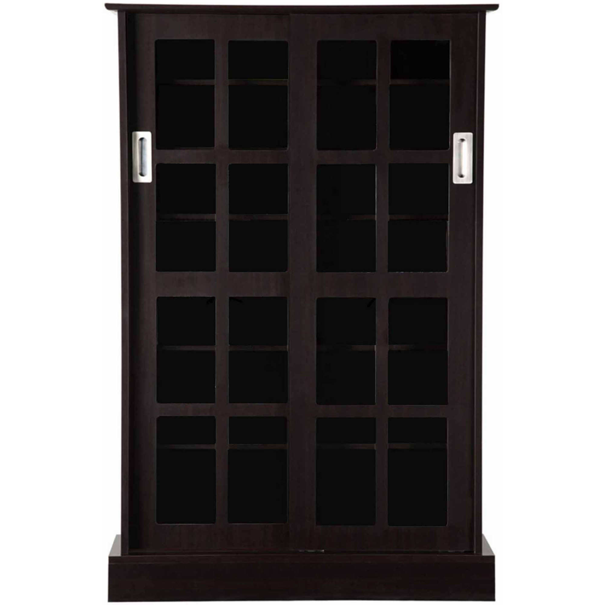 Atlantic Furniture Windowpane Media Cabinet, Espresso