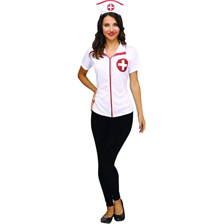 Middle School Teacher Halloween Costume Ideas (Fun World Nurse Occupation for Halloween, School Acting, Costume Party, for Women Adult Size M 8/10 (1)
