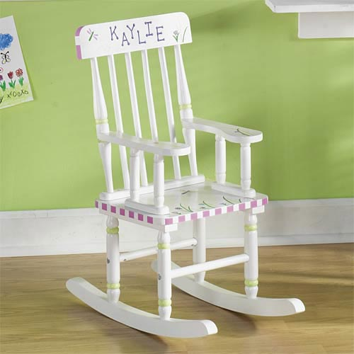 Personalized Dragonfly Rocking Chair