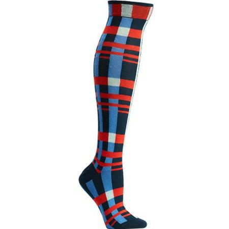 Women's Ozone Constructive Plaid Knee High Socks (2 (Best Maxblaster Ozones)