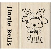 "Inkadinkado Mounted Rubber Stamp Set 2.75""x2.25""-jingle Bells"