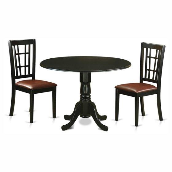 East West Nicoli 6 Piece Dining Set: East West Furniture Dublin 3 Piece Drop Leaf Dining Table