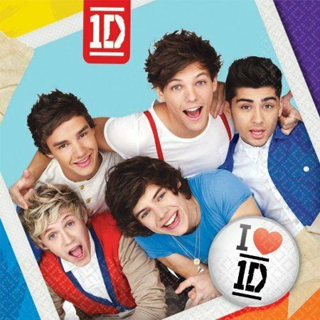 One Direction 1D Large Lunch Dinner Napkins Party Zayn Harry Niall Liam Louis - One Direction Halloween Party In Japan