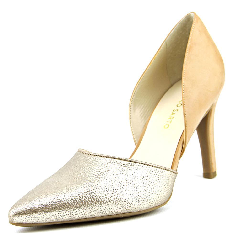 Franco Sarto Arrow Women Pointed Toe Leather Black Heels by Franco Sarto