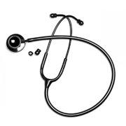 Labtron 500BK Deluxe Panascope Dual Head Stethoscope, Midnight Black