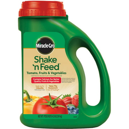 Miracle-Gro Shake 'n Feed Tomato, Fruits & Vegetables Continuous Release Plant Food Plus Calcium, 4.5 lbs
