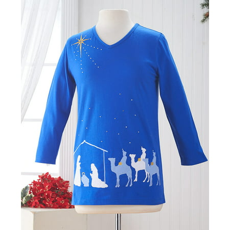 Embroidered Holiday Tops - Nativity XL 18/20 - Nativity Clothes