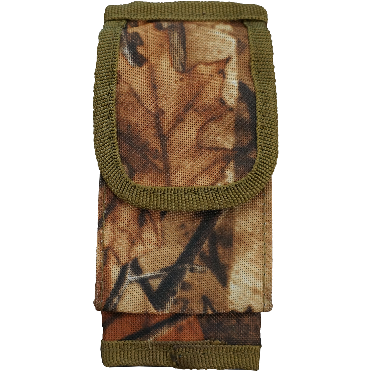 Every Day Carry Tactical Velcro Seatbelt Strap Holster Pouch - Oak Wood Camo