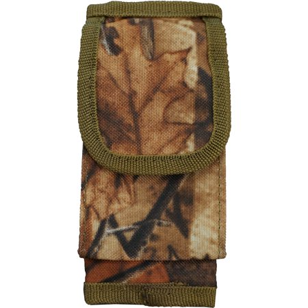 Every Day Carry Tactical Velcro Seatbelt Strap Holster Pouch   Oak Wood Camo