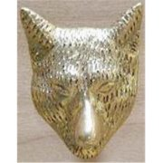 Mayer Mill Brass LFDP Large Fox Head Drawer Pull