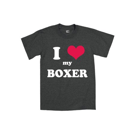 I Heart Love My Boxer, Dog Breed Puppy Pet Parent Puppies Mens T-Shirt
