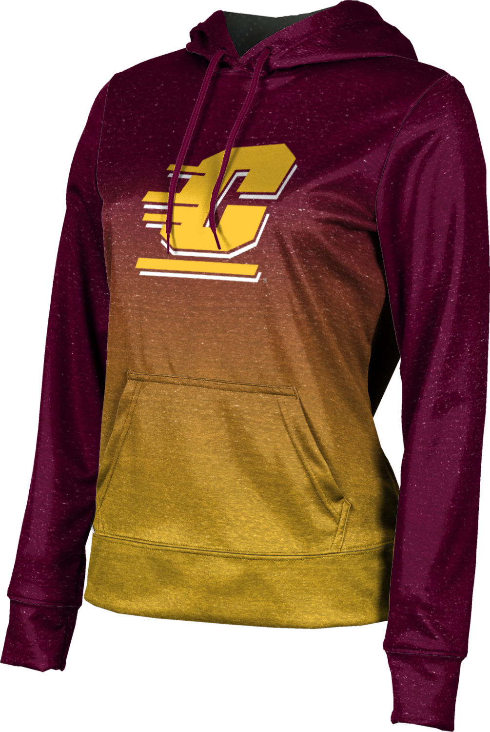ProSphere Girls' Central Michigan University Ombre Pullover Hoodie