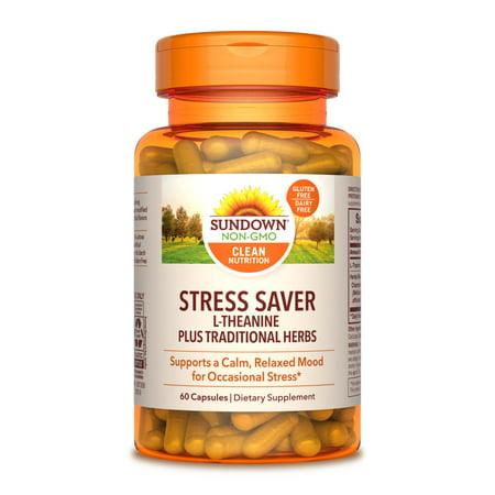 Stress Formula 90 Caps (Sundown Naturals® L-Theanine Stress Formula, 60)