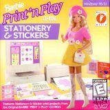 Barbie Print N Play Stationery & Stickers, Barbie By Mattel by