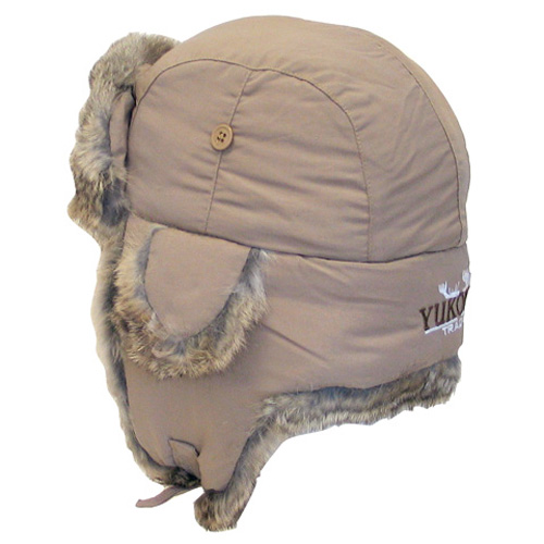 Yukon Yukon Taslan Alaskan Hat - Tan With Brown Fur - Large