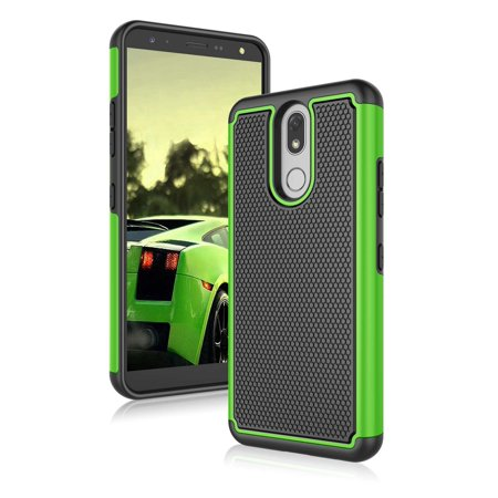 LG K40 Cases, LG K12 Plus Cover, LG X4 2019 Case, Njjex Shock Absorbing Dual Layer Ruugged Rubber Scratch Resistant Hard Plastic Phone Case for LG Solo LTE / Harmony 3 / LMX420 5.7