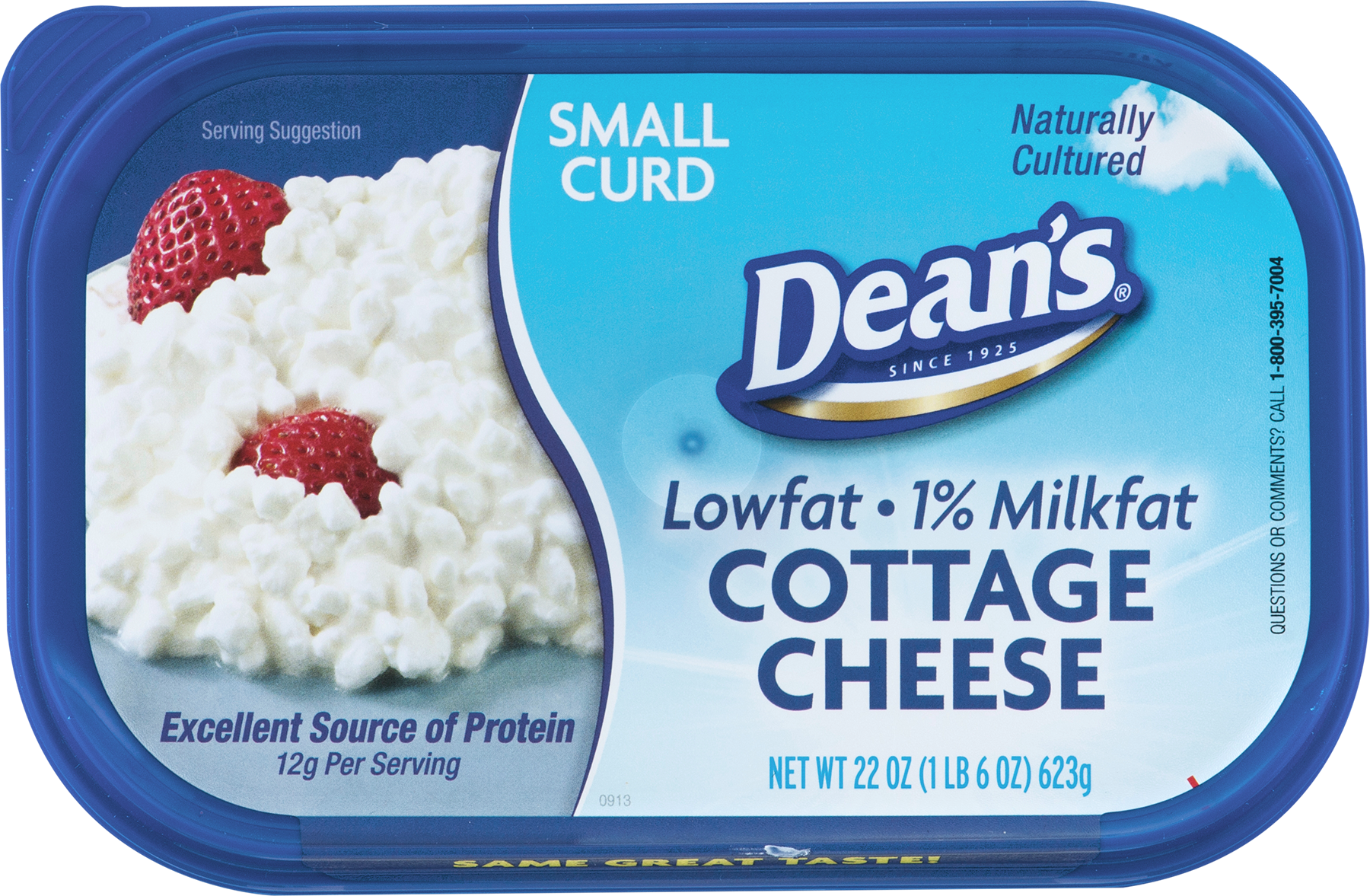 Deans Lowfat Cottage Cheese Small Curd 22 OZ 220