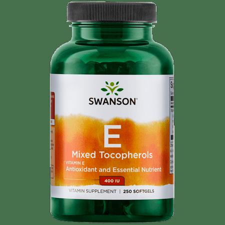 Swanson Vitamin E Mixed Tocopherols 400 Iu 250 Sgels