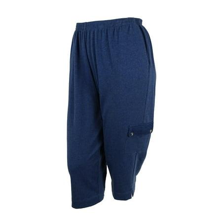 cc2d02d23d102 Alfred Dunner - Alfred Dunner Women s Cargo Capri Pants - Walmart.com