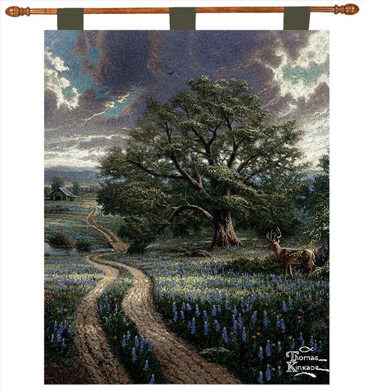 Thomas Kinkade Country Living 26X36 Inch Tapestry Wall Hanging