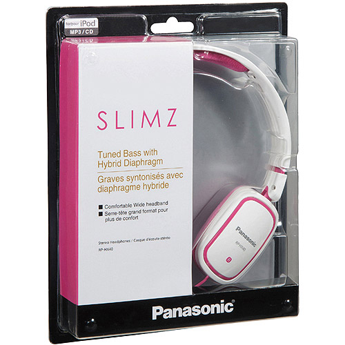 Panasonic RP-HX40-PW Light Weight On Ear Monitors -Pink/White (Discontinued b...