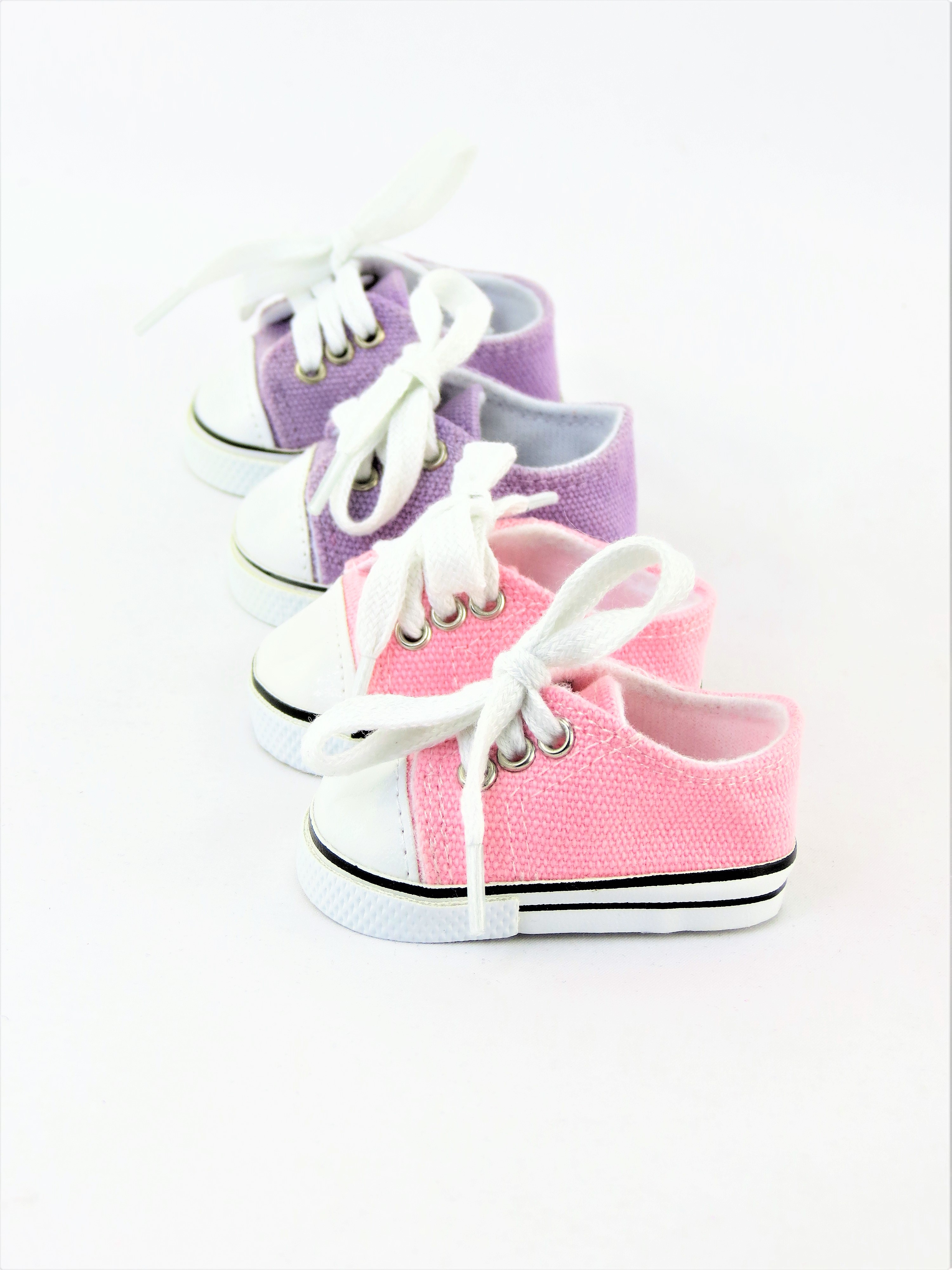 "2 Pair Low Top Sneakers Lavender & Light pink Fits 18"" American Girl Dolls, Madame... by"